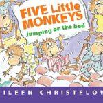 手遊びでも楽しめる♪「Five Little Monkeys Jumping on the Bed」★動画有